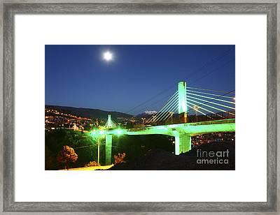 Puentes Trillizos Suspension Bridge Framed Print by James Brunker