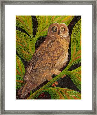 Framed Print featuring the painting Pueo by Anna Skaradzinska