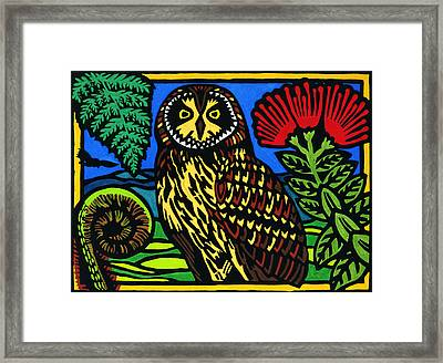 Pueo Mana Framed Print by Lisa Greig