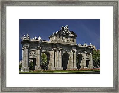 Puerta De Alcala Madrid Spain Framed Print by Susan Candelario