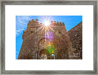 Puerta Del Cambron Framed Print by Scotts Scapes
