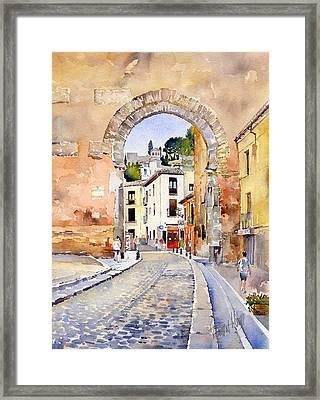Puerta Elvira Framed Print by Margaret Merry