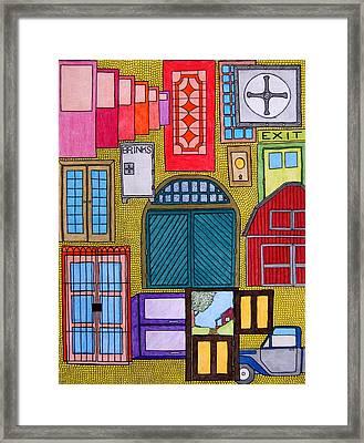 Puertas Framed Print