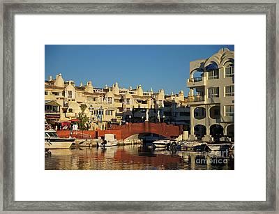 Puerto Deportivo Framed Print by Rod Jones