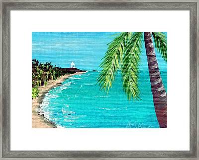 Puerto Plata Beach  Framed Print by Anastasiya Malakhova