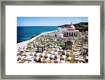 Puerto Rican Cemetery Framed Print by Kara  Stewart