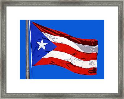 Puerto Rican Flag Framed Print