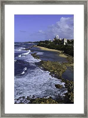 Puerto Rico Coastline Framed Print