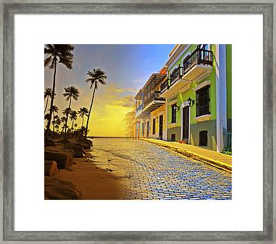 Puerto Rico Collage 2 Framed Print