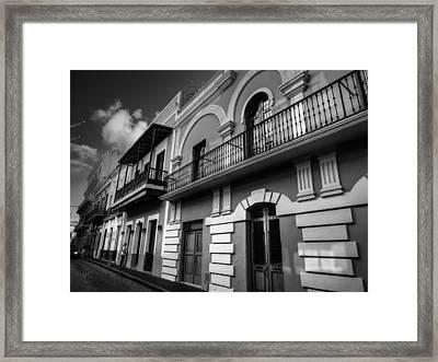 Puerto Rico - Old San Juan 002 Bw Framed Print