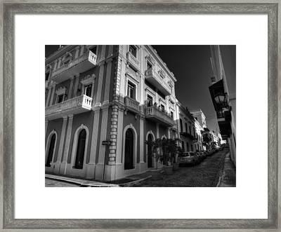 Puerto Rico - Old San Juan 004 Bw Framed Print by Lance Vaughn