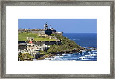 Puerto San Juan Light Ocean View Framed Print