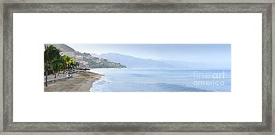 Puerto Vallarta Beach In Mexico Framed Print