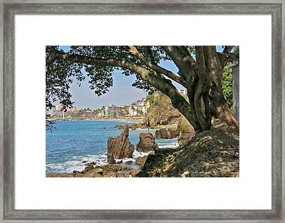 Puerto Vallarta From A Distance Framed Print