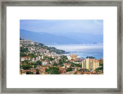 Puerto Vallarta On Mexican Coast Framed Print