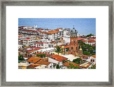 Puerto Vallarta Rooftops Framed Print