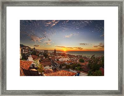 Puerto Vallarta Sunset Framed Print