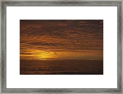 Puesta De Sol  Framed Print by Sandra Silva