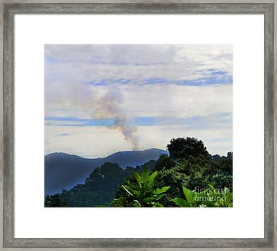 Puff The Magic Volcano II Framed Print by Al Bourassa