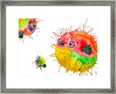 Pufferfish Framed Print by Lucy Loo Wales
