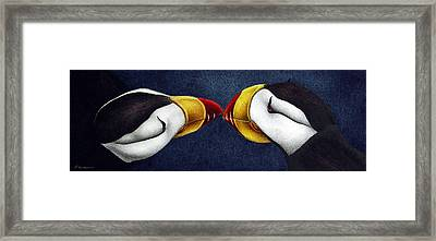 Puffins Framed Print by Pat Erickson