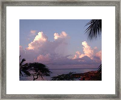 Puffy Clouds Framed Print by Marianne Miles