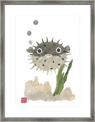 Blowfish Art Framed Print by Keiko Suzuki
