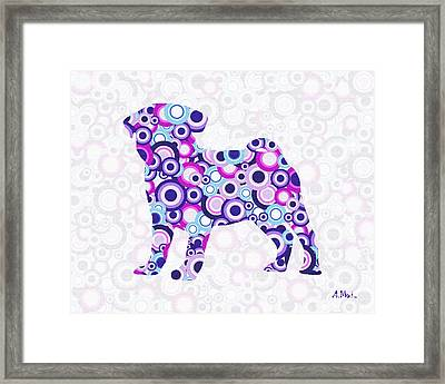 Pug - Animal Art Framed Print by Anastasiya Malakhova