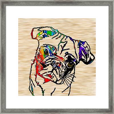 Pug Mug Framed Print