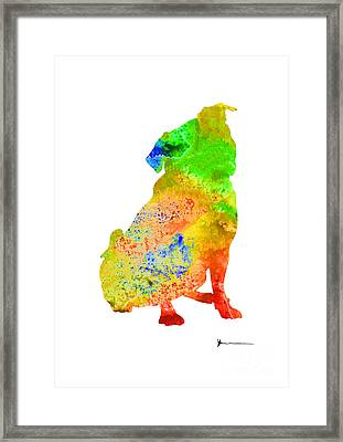 Pug Silhouette Abstract Dog For Sale Framed Print