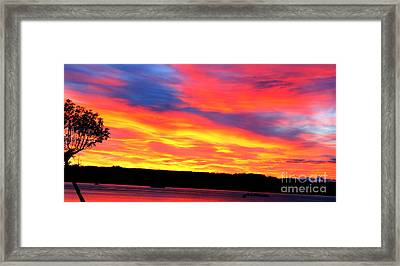 Puget Sound Colors Framed Print