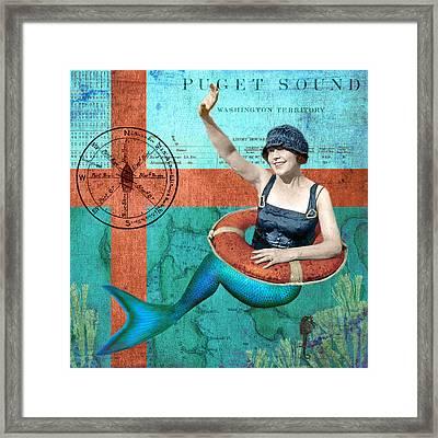 Puget Sound Mermaid  Framed Print