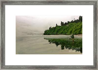 Puget Sound On The Fly Framed Print by Jason Bordash