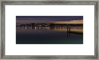 Puget Sound Reflections Framed Print by Greggory Burt