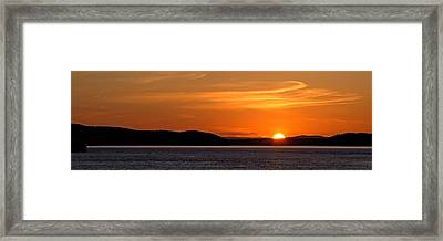 Puget Sound Sunset - Washington Framed Print