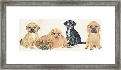 Puggle Puppies Framed Print