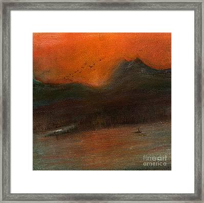Pugit Sound Sunset Framed Print