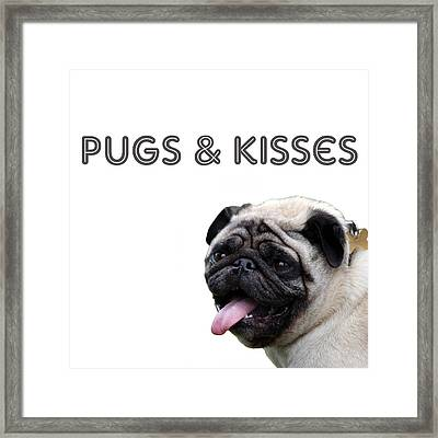 Pugs And Kisses Framed Print
