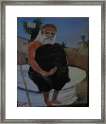 Pujya Bapji Framed Print by M Bhatt
