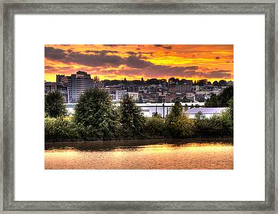 Pulallup River Sunset II Framed Print