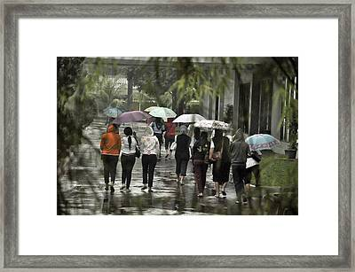 Pulang Bareng Framed Print by Achmad Bachtiar