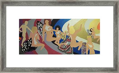 Framed Print featuring the painting Pulled by Erika Chamberlin