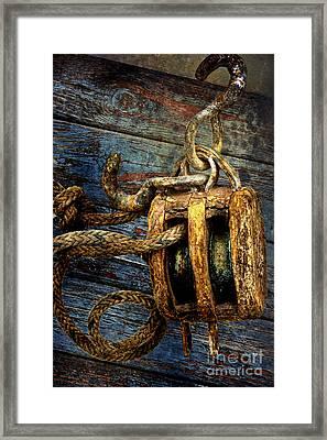 Pulley Framed Print by Sari Sauls