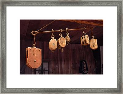 Pulleys Framed Print by Mike Flynn