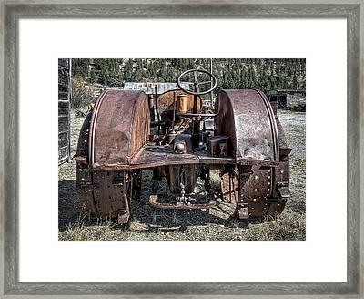 Pulling End Of Mccormick-deering Tractor Framed Print