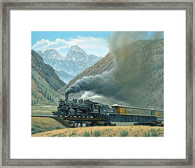 Pulling For Silverton Framed Print by Paul Krapf