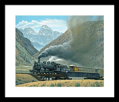 Steam Train Framed Prints
