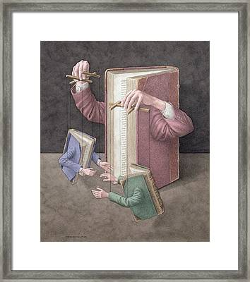 Pulling Strings, 2005 Wc On Paper Framed Print by Jonathan Wolstenholme