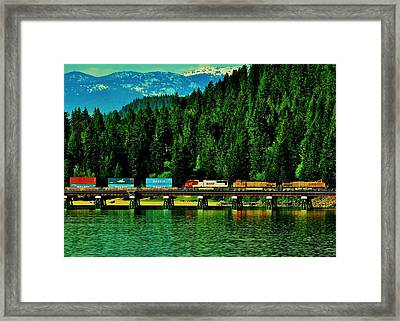 Pulling Through Sandpoint Framed Print by Benjamin Yeager