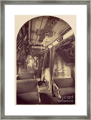 Pullman Palace Sleeping Car 1870 Framed Print by Getty Research Institute